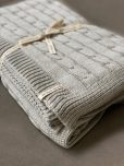 grey knitted throw