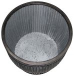 Block & Chisel galvanized zinc pot