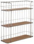 Block & Chisel 3-tier iron wall shelf with fir wood shelves