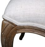 Block & Chisel cream upholstered french inspired dining chair