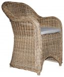Block & Chisel rattan outdoor dining armchair