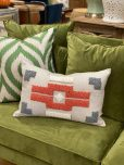punch needle scatter cushion rust and oatmeal