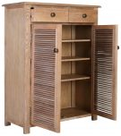 Block & Chisel oak wood and MDF cabinet with louvre doors