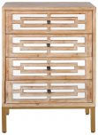 Block & Chisel wooden chest of drawers with mirror panelling