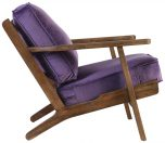 Block & Chisel purple velvet upholstered occasional chaiBlock & Chisel purple velvet upholstered occasional chair with rubber wood legs