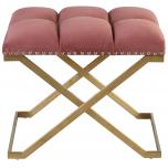 Block & Chisel pink velvet upholstered stool