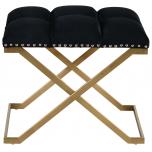 Block & Chisel black velvet upholstered stool