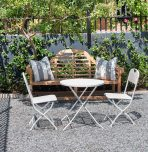 Block & Chisel white metal outdoor cafe set