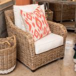 Block & Chisel ikat red orange pattern scatter cushion front