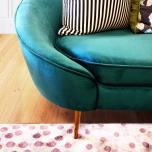 Block & Chisel modern sofa green