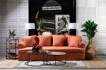 Block & Chisel Remo Poetry upholstered orange sofa