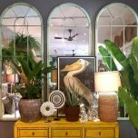 Block & Chisel framed bird print pelican