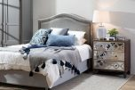Gemma Drawer Chest with 3 mirrored drawers and geometric patte