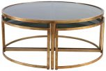 Block & Chisel round nesting coffee table
