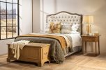 French style queen headboard in cream