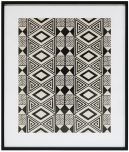 Block & Chisel black and white abstract framed print