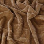 fur panther throw in cinnamon