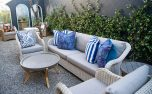 Block & Chisel rattan 3.5 seater outdoor sofa in white