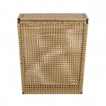 pvc rattan laundry basket large