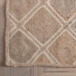 Block & Chisel natural jute carpet with print
