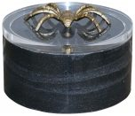 Block & Chisel round black marble box with acrylic lid