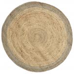 Block & Chisel round natural braided jute carpet