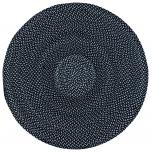 Block & Chisel round black & white braided cotton carpet