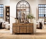 Block & Chisel rectangular reclaimed wood sideboard with iron legs