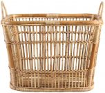 Block & Chisel natural rattan basket with handles
