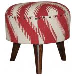 Block & Chisel zigzag print stool