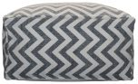 Block & Chisel square cotton pouf