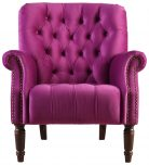 Block & Chisel purple velvet upholstered occasional chair