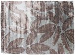 Block & Chisel brown leaf viscose rug