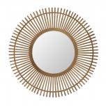 Jamie bamboo round mirror