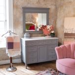 Block & Chisel grey poplar wood vanity