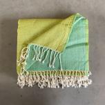 Lime green wool throw