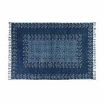 destinty rug in indigo and white