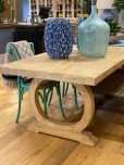 Elm wood dining table