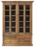 Block & Chisel recycled pine bookcase with glass doors
