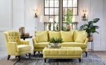 Dorothy Tufted armchair in yellow