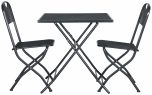 Block & Chisel grey metal outdoor cafe set