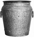 Block & Chisel galvanized zinc pot with handles