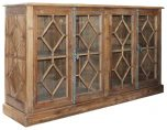 Block & Chisel recycled pine sideboard with glass doors