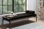 Millie Daybed with headrest and tufted details in black velvet