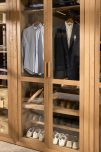 block and chisel wardrobe hanging and shoe rack.