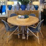Recycled Elm round dining table