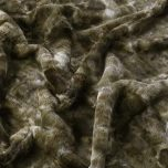 faux fur throw in olive