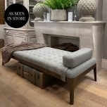 Block & Chisel rectangular grey and black speckle upholstered daybed