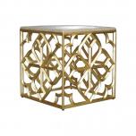 Block & Chisel geometric metal base side table
