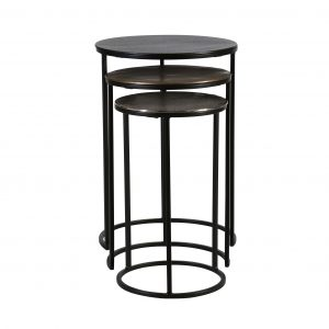 block and chisel metal nesting table